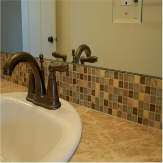 Great Tile Bathroom Backsplash Installation